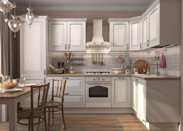 Kitchen set backsplash style