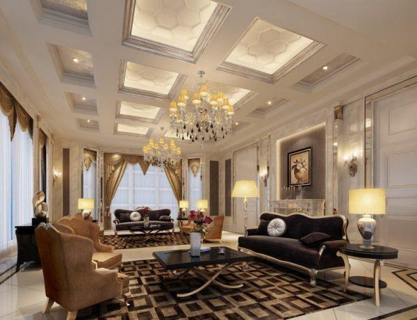 dekorasi plafon gypsum hotel