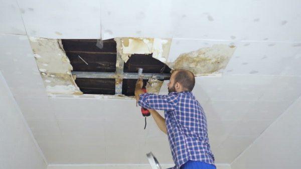 cara reparasi plafon gypsum